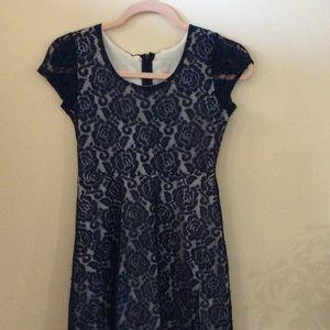 Xhiliration Navy Blue Dress